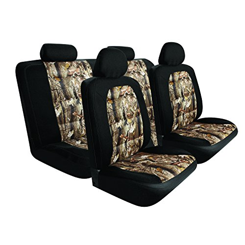 Pilot Automotive SC-5025E Black 10-Piece Camo Mesh Seat Cover