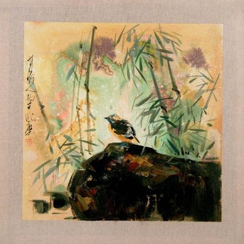 The Perfect Effect Canvas Of Oil Painting 'Chinese Bird-and-Flower Painting' ,size: 12x12 Inch / 30x30 Cm ,this Best Price Art Decorative Prints On Canvas Is Fit For Nursery Decoration And (Halloween Cocktails Vampire Kiss)