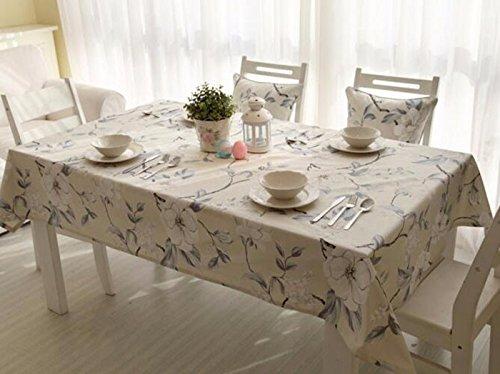 Tabgw Nappe rectangulaire salle à manger drap de coton couverture en tissu Garden Hotel Cafe Restaurant Accessoires pour la maison Style européen impression 220X140