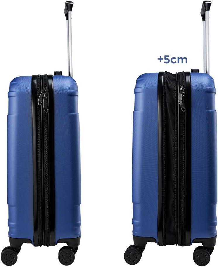 Vert Menthe, 55x40x20cm BONTOUR Valises de Cabine avec Serrure TSA Bagage /à Main avec 4 Roues L/éger