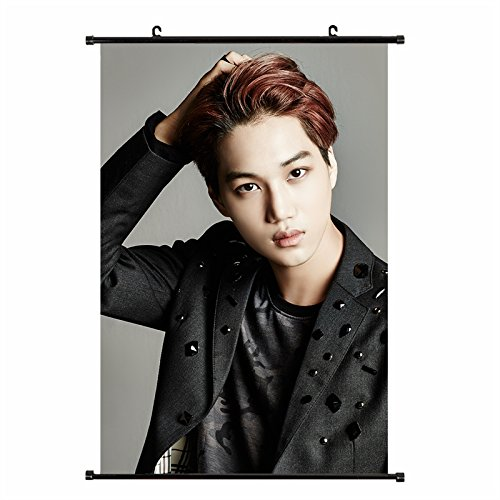 Fanstown EXO ivy club black suit wall scroll cloth poster wi