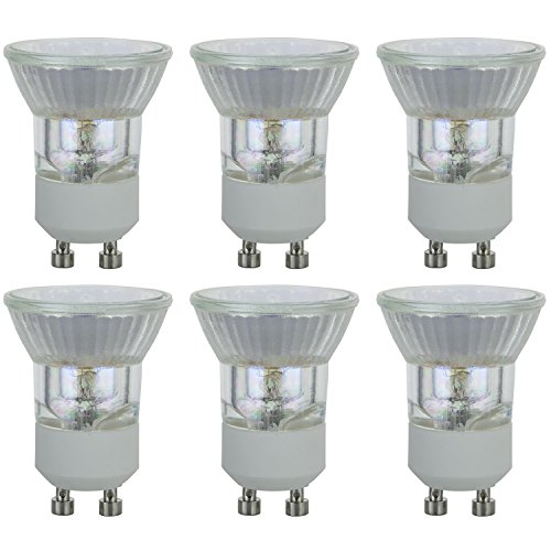 Sunlite 35AR111/FL/12V/6PK 12V AR111 Aluminum, 24, G53 35MR11/CG/GU10/FL/120V/6PK Halogen 35W 120V MR11 Quartz Reflector Floodlight Bulbs, 36° 3200K Bright White Light, GU10 Base, 6 Pack