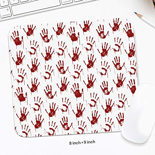 Unisex Man Real Blood Palm Halloween Props White Simple Pads Home Office Computer Symbol Schoolsuppies Valentine's Day ()