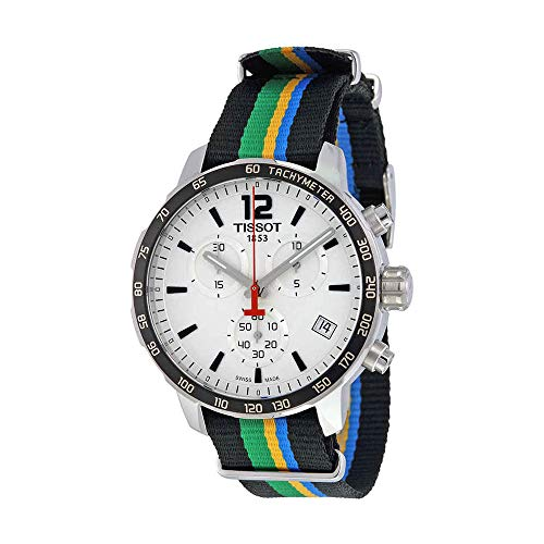 - Tissot Men's 'Quickster' Swiss Quartz Stainless Steel and Nylon Watch, Multi Color (Model: T0954171703702)