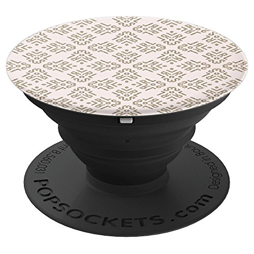Kaleidoscope Pattern Boho Chic Ivory Cream Gold Tribal Glam - PopSockets Grip and Stand for Phones and ()