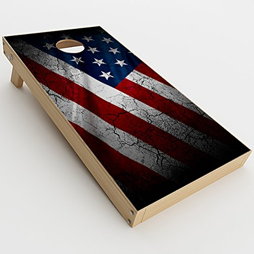 Skin Decal Vinyl Wrap for Cornhole Outdoor Board