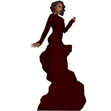 3480d4c58c66 Chady Sexy African Black Girl Burgundy Mermaid Prom Dresses 2018 Court  Train Appliques Lace Prom Dress