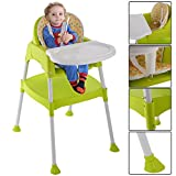 3 in 1 Baby High Chair Convertible Table Seat Toddler Feeding