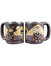One (1) MARA STONEWARE COLLECTION - 16 Oz Coffee/Tea Cup Collectible Dinner Mugs - Night Owl Bird Design