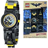 DC Comics Lego Batman Movie Batman Kids Minifigure Link Buildable Watch   Black/Yellow   Plastic   28Mm Case Diameter  Analogue Quartz   Boy Girl   Official