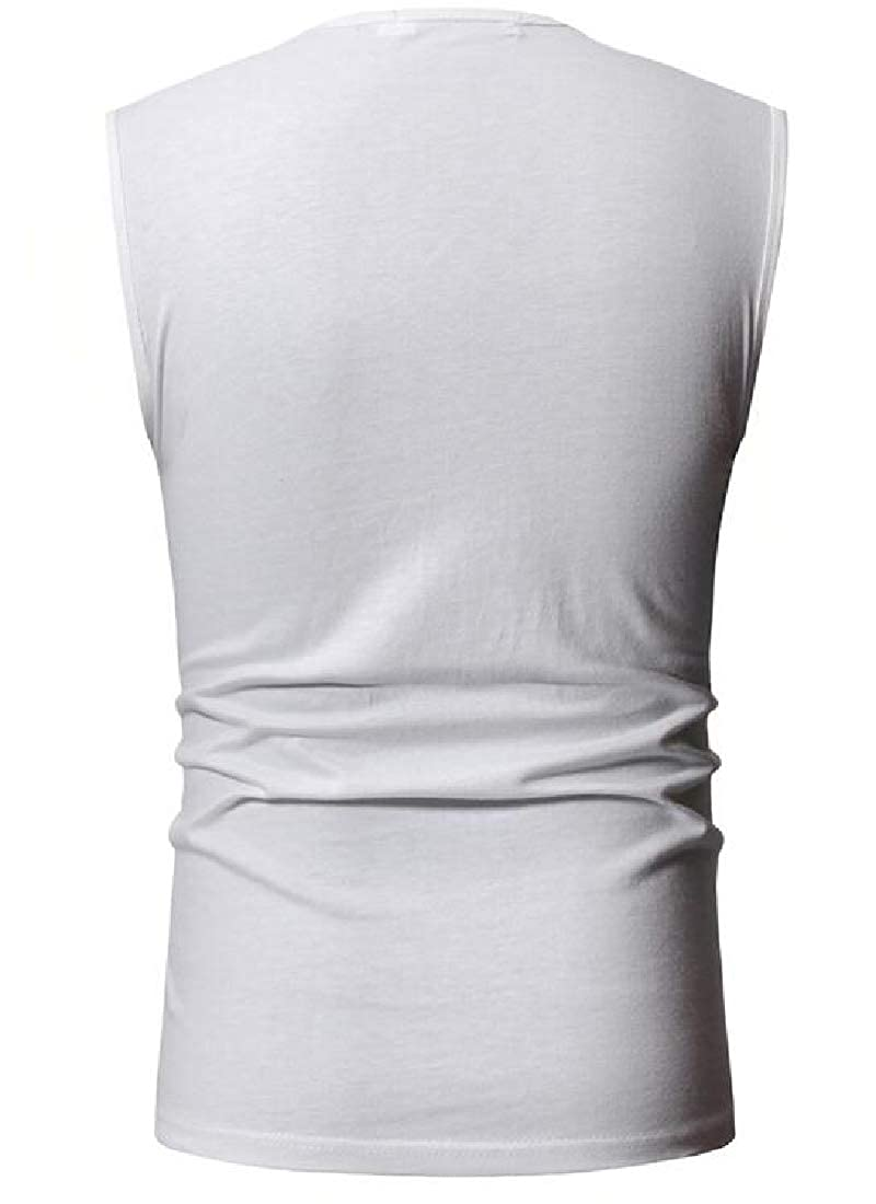MOUTEN Men Classic Short Sleeve Athletic Cotton Crewneck Tank Tops T-Shirts