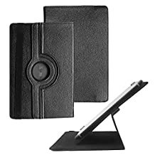 "Tsmine Insignia Flex 8"" NS-P16AT08 Rotating Case - Universal Rotary Protective Leather Case Stand Cover for Insignia NS-P16AT08, Black"