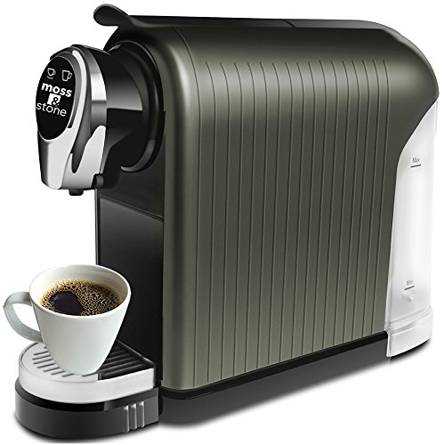 Espresso Machine For Nespresso Compatible Capsules by Moss and Stone (Dark Grey) by Moss & Stone