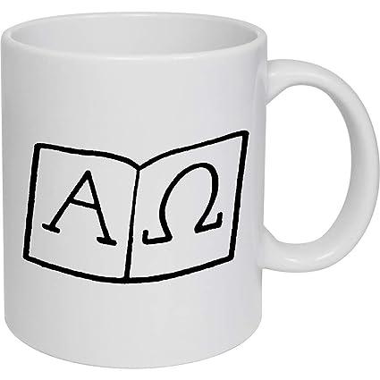 320ml Símbolos Alfa y Omega Taza de Ceramica (MG00010782 ...