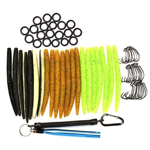 HILLPOW Wacky Worm Kits, Wacky Rig Tool (Blue), Wacky Hooks, 5.2
