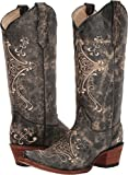 Circle G Women's Crackle Embroidered Western Boots