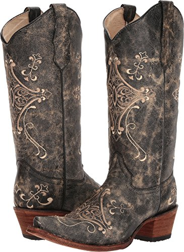 Corral Boots Women's L5048 Black/Bone Boot Size 9M