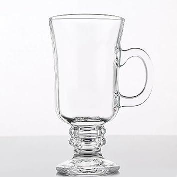 Café irlandés gafas soporte Rejillas Grill Whisky Acero Inoxidable Cafetera estufa por kteam: Amazon.es: Hogar