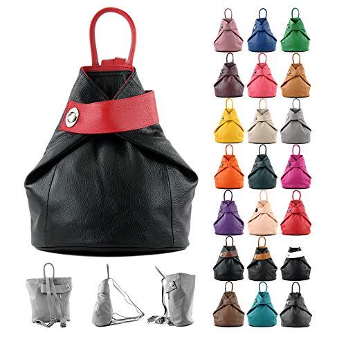 Colore In Da De Ital Donna T179 Pelle Zaino blattgrün Modamoda wn4vTqB