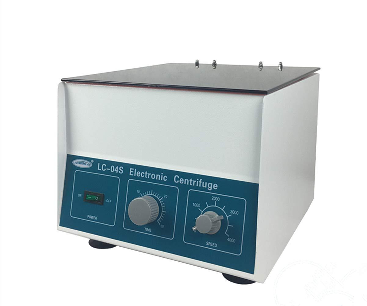 YJINGRUI LC-04S Medical Low Speed Centrifuge Separator Precipitator Laboratory 0-30min Desktop Electric Lab Centrifuge 4000rpm 12x20ml 2325xg (110V)