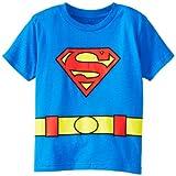 DC Comics Toddler costume Superman Logo Caped T-Shirt, Blue, 3T