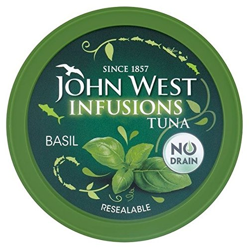 (John West Tuna Infusions With Basil 80g - Pack of 6)