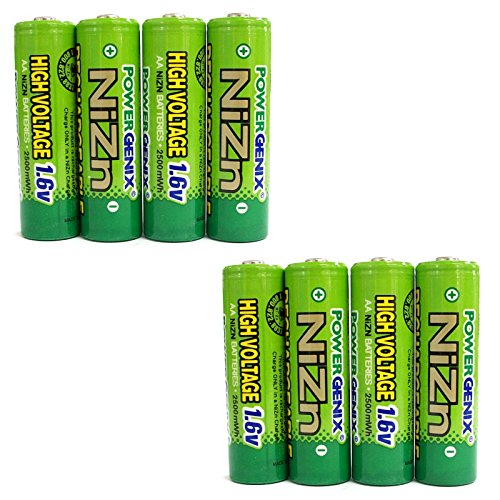 Have one to sell? Sell now 8 pcs 2500mWh 1.6V Volt AA 2A NiZn Rechargeable Battery Cell PowerGenix US Stock