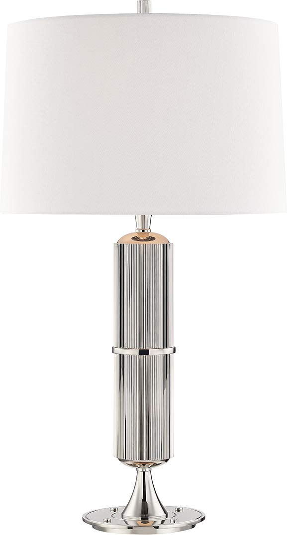 Amazon.com: Hudson Valley L1187-PN Tompkins Table Lamp, 1 ...