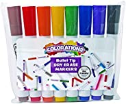Colorations Dry Erase Bullet Tip Markers - Set of 8 (Item # BPDRY), Assorted Set