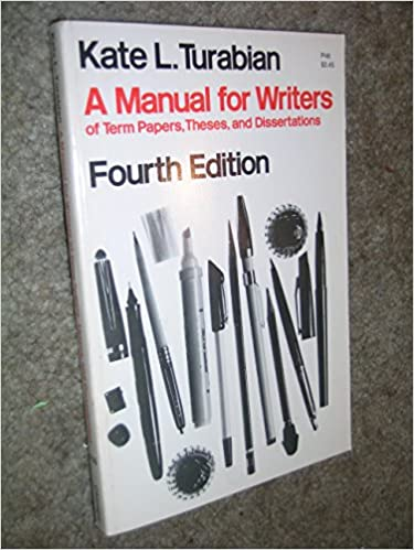 Manual for writers of term papers theses and dissertations doctoral dissertations in musicology