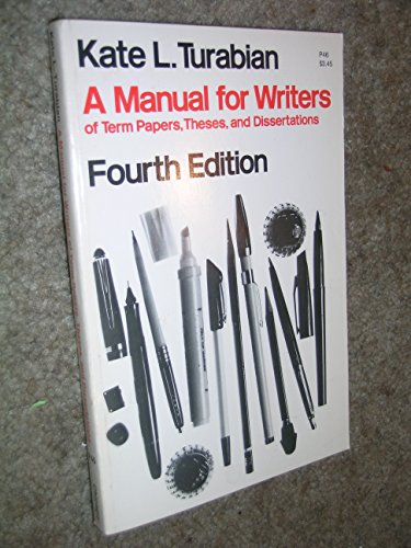 kate turabian a manual for writers of term papers This seventh edition of turabian's manual for writers of research papers, theses, and dissertations is a classic reference revised for a new age  kate turabian.