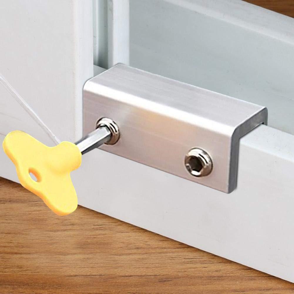 Eternitry Childrens window lock safety lock aluminum alloy steel doors and windows home sliding safety sliding door limiter
