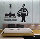 Fernanfo Alonso Ferrari Scuderia Forca Ferrari Wall Art Sticker Decal 17