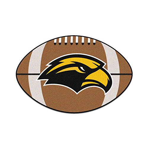 (NCAA University of Southern Mississippi Southern Miss Golden Eagles Football Shaped Mat Area Rug)