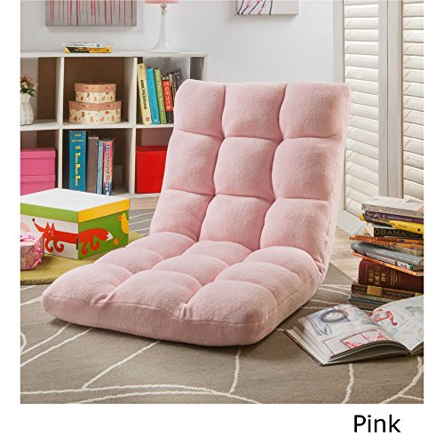 51nO7N7p0jL - Loungie-Supersoft-Folding-Adjustable-Floor-Relaxing-Reclining-Gaming-Chair-Expert-Guide-by-JaxTerrific-Pink