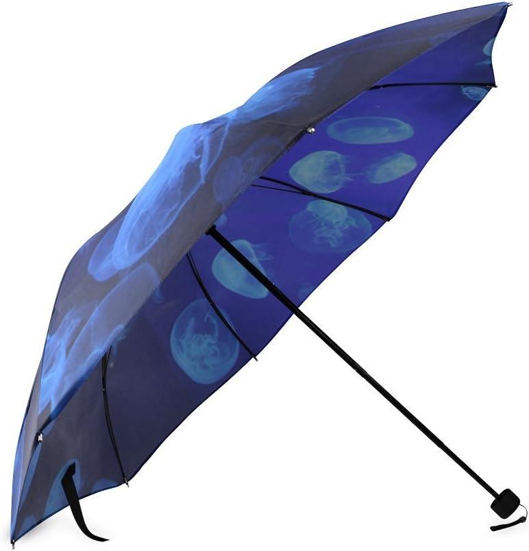 Custom Jellyfish Compact Travel Windproof Rainproof Foldable Umbrella