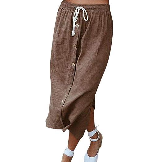 Shenye - Falda de Playa para Mujer con Botones elásticos Antiguos ...