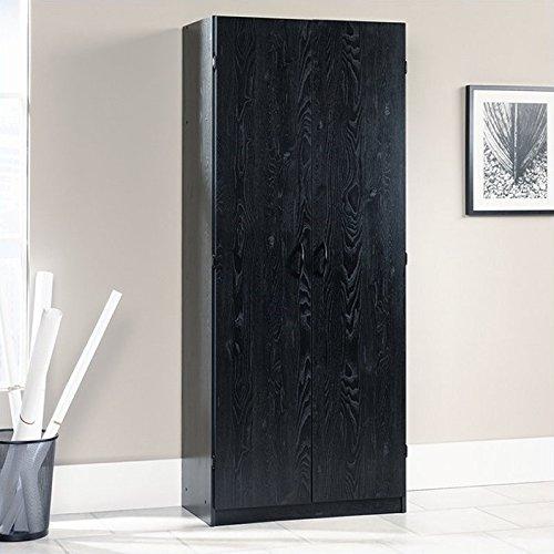 Sauder 410814 Storage Cabinet, Ebony Ash