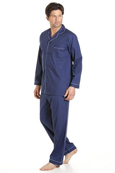 Haigman Pijama hombre azul cielo Manga Larga Set Pijama Traje Con Pantalones - Azul Marino,
