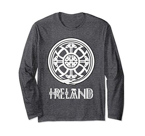 Medium Celtic Circle - Unisex Celtic T-Shirt Irish Snake Knot Circle Ireland St. Paddy's Medium Dark Heather
