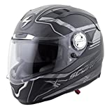 Scorpion EXO-1100 Jag Adult Street Racing Motorcycle Helmet - Phantom/Small