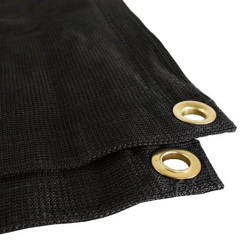 Black Mesh 12×24 Heavy Duty UV Screen Shade Canopy Patio Yard Tarp Sun Cover
