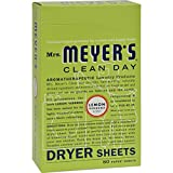 2Pack! Mrs. Meyer's Dryer Sheets - Lemon Verbena - Case of 12 - 80 Sheets