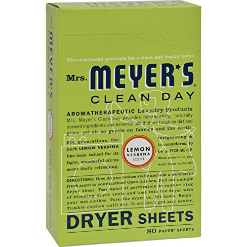 2Pack! Mrs. Meyer's Dryer Sheets - Lemon Verbena - Case of 12 - 80 Sheets by Laundry by Shelli Segal