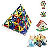 KINDAFLY 157 pcs Magnetic Building Set Right Brain Exercises Magnet Stick Magnetic Sticks and Balls for Kids Children 3D Building Games Toy