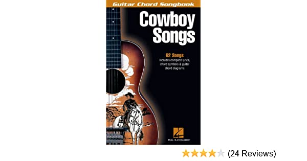 Amazon.com: Cowboy Songs Songbook: Guitar Chord Songbook (Guitar ...