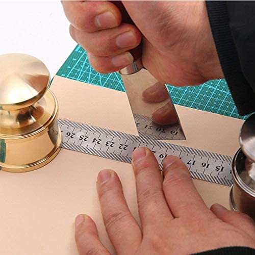 WXQ-XQ 修復ツール、ツールレザーハンドプレストレザーDIY彫刻特別なピーリングレザー(素材:ステンレススチール)