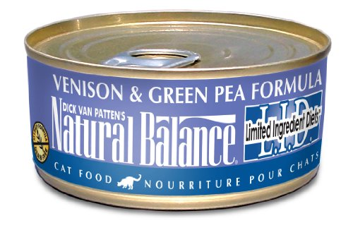Natural Balance Venison Green Pea Formula Cat Food (Pack of 24 6-Ounce Cans), My Pet Supplies