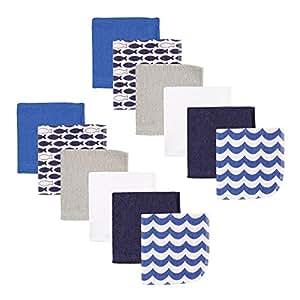 Luvable Friends - Paño de cocina (12 piezas), diseño de ballena Blue Fishes Talla:talla única