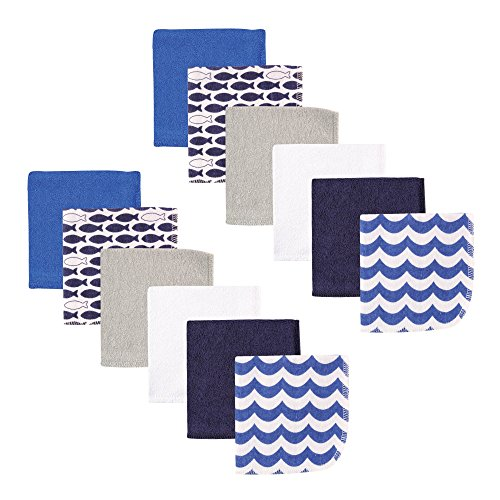 Luvable Friends Piece Washcloths Fishes product image